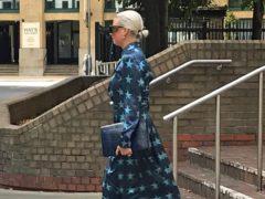 Angela Gulbenkian leaves Southwark Crown Court in London (Henry Vaughan/PA)