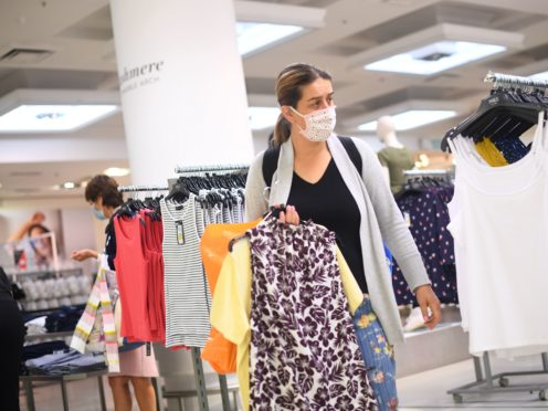 Retail prices plunged more sharply this month on the back of summer clothing sales, while food also became cheaper, according to new data (Victoria Jones/PA)