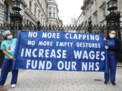 Government urged to announce long-awaited pay rise for NHS workers (Jonathan Brady/PA)