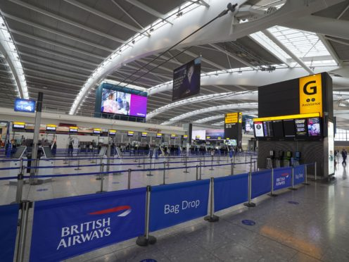Heathrow has announced that its cumulative losses from the Covid-19 pandemic have hit £2.9bn (Steve Parsons/PA)