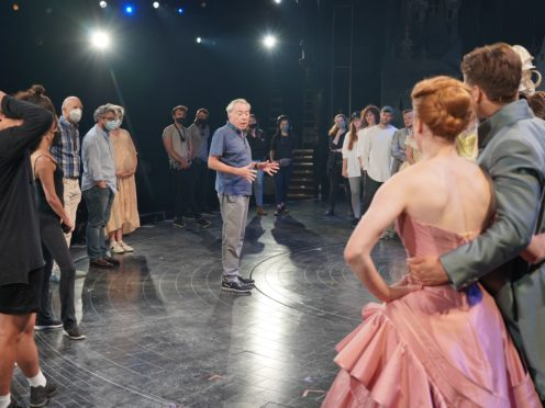 Andrew Lloyd Webber with the cast and crew of the Cinderella production (Andrew Lloyd Webber)