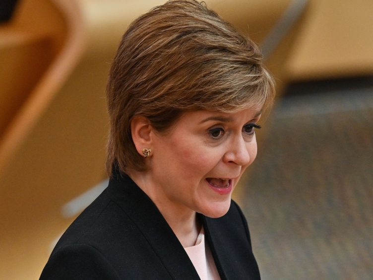 First Minister Nicola Sturgeon visited the Young Movers charity in Glasgow (Jeff J Mitchell/PA)