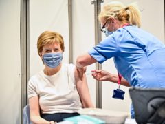 Nicola Sturgeon had said she expected all 40-49-year-olds to have had both vaccines by Monday (Jeff J Mitchell/PA)