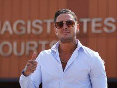 Reality TV star Stephen Bear leaves Colchester Magistrates' Court (Gareth Fuller/PA)