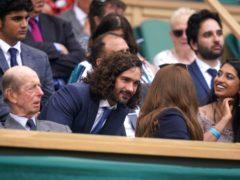 Joe Wicks speaks to the Duchess of Cambridge (Adam Davy/PA)