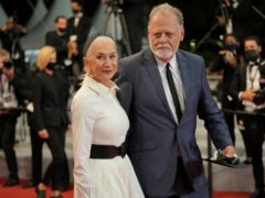 Dame Helen Mirren and husband Taylor Hackford were among the stars pictured at Cannes (AP Photo/Vadim Ghirda)