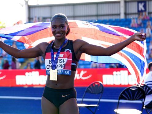 Dina Asher-Smith will captain the Team GB athletics squad in Tokyo. (Martin Rickett/PA)