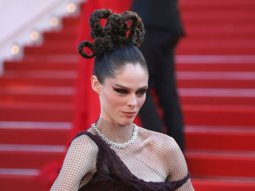 Coco Rocha was among the stars spotted at the Cannes Film Festival (Vianney Le Caer/Invision/AP)