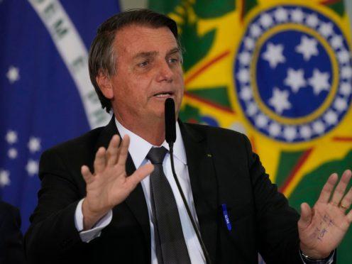 Brazil president Jair Bolsonaro (Eraldo Peres/AP)