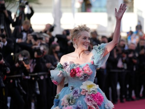 Sharon Stone brought Hollywood glamour to the south of France as she attended the Cannes Film Festival (AP Photo/Vadim Ghirda)