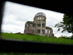 The Atomic Bomb Dome is seen in Hiroshima, western Japan (Eugene Hoshiko/AP)