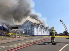 Troon station was badly damaged by a fire on July 17 (Network Rail Scotland/PA)