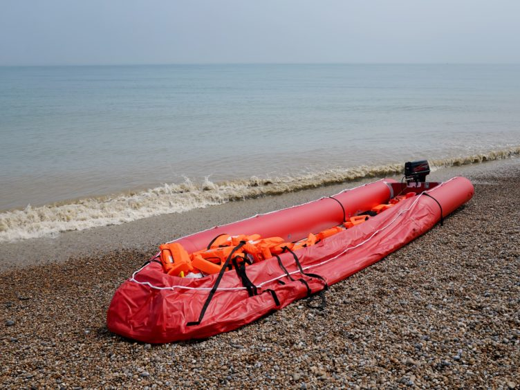 A boat thought to be used in a migrant crossing (Gareth Fuller/PA)