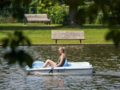 A pedalo on a lake in Newbury, Berkshire (Steve Parsons/PA)