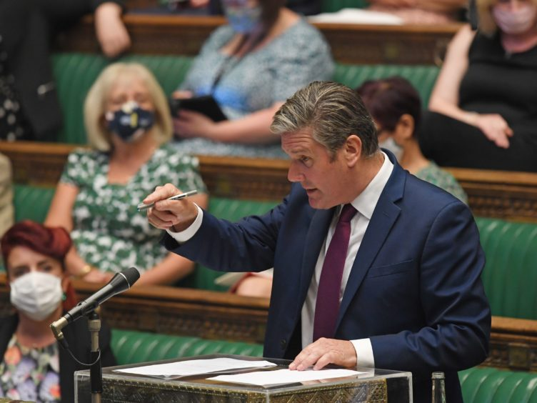 Sir Keir Starmer said a change to the quarantine rules for the fully vaccinated could help bring 'stability' (UK Parliament/Jessica Taylor/PA)