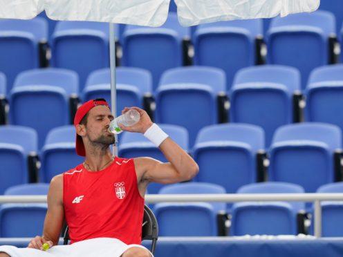 Novak Djokovic found the hot conditions difficult in Tokyo (Patrick Semansky/AP)