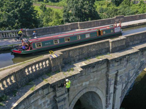 The Dundas Aqueduct is 140 metres long (Steve Parsons/PA)