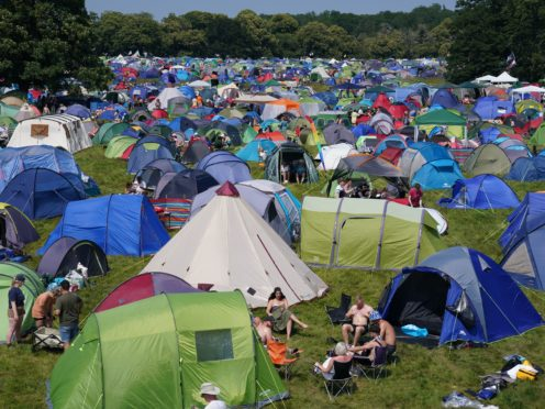 Festivalgoers in the campsite at Latitude Festival (Jacob King/PA)