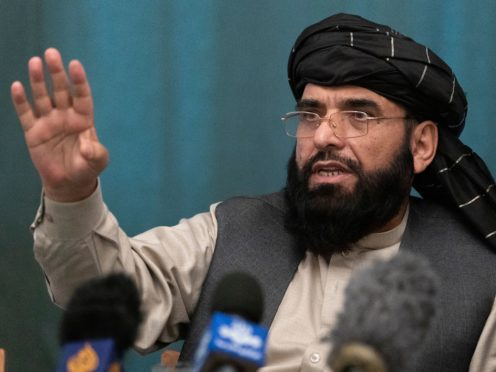 Suhail Shaheen, Afghan Taliban spokesman (Pool/AP)