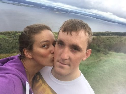 Mallory Franklin and her fiance Ciaran Lee Edwards (Ciaran Lee Edwards/PA)