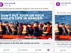Social media advertising targeted at migrants, asylum seekers and refugees in France (Home Office/PA)