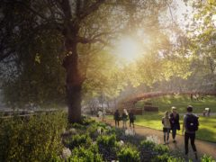 An artist's impression showing the entrance of the proposed Holocaust Memorial and Learning Centre in London (UK Holocaust Memorial/PA)