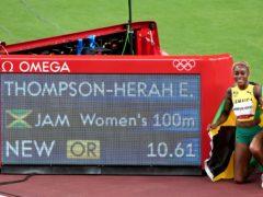 Elaine Thompson-Herah set an Olympic record time (Martin Rickett/PA)