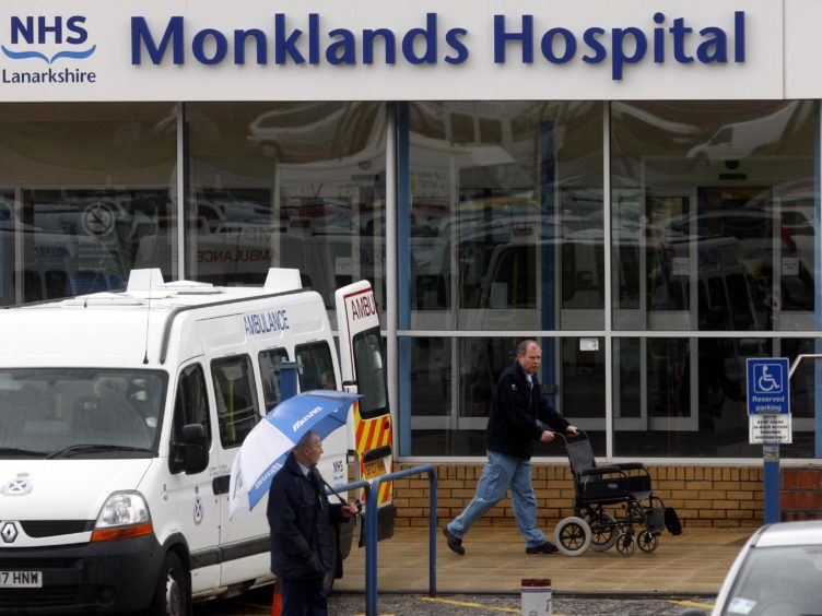 Monklands Hospital in Airdrie is under increasing pressure (Danny Lawson/PA)