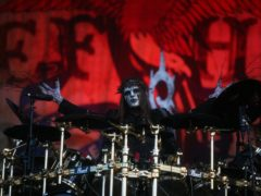 Joey Jordison performed with Slipknot on the main stage during the Download Festival 2009 at Donnington Park, in Derby.