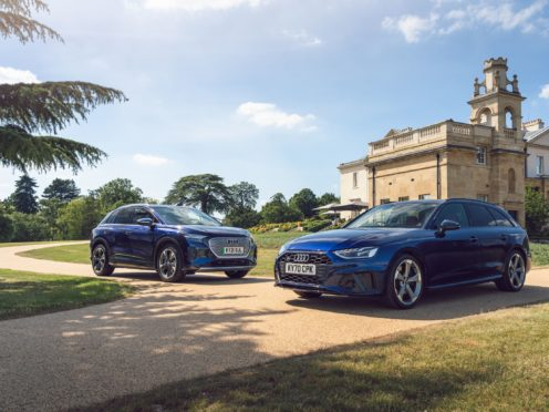 The S4 Avant meets up with Audi's latest electric car, the Q4 e-tron