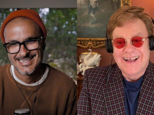 Sir Elton John and Zane Lowe (Apple Music/PA)