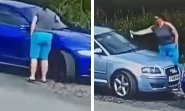 Woman seen spraying substance on cars near Burntisland harbour given police warning