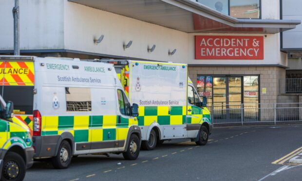 'Nearly every ambulance in Fife' parked outside A&E claims MSP
