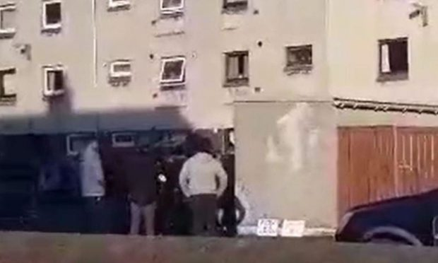 Police called to Buckhaven flats as residents protest over alleged sex offender arrival