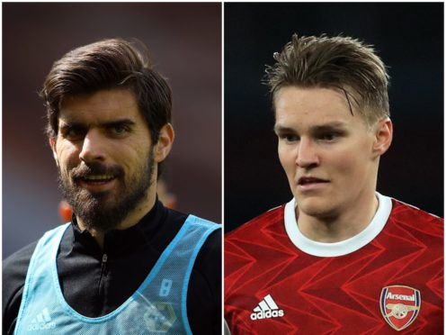 Ruben Neves and Martin Odegaard feature in the papers on Thursday (Naomi Baker/Adam Davy/PA)