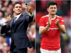 Harry Maguire thinks Raphael Varane will bring a winner's mentality to Old Trafford (PA)