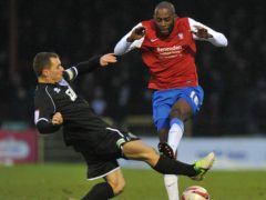 Jamal Fyfield (right) scored the winner for Boreham Wood (PA Wire)
