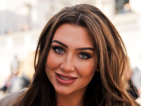 Lauren Goodger, during a photocall for Comic Relief (Nick Ansell/PA)