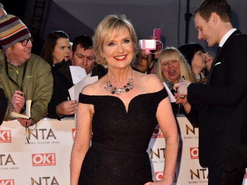Carol Kirkwood attending the National Television Awards 2017 at the O2, London