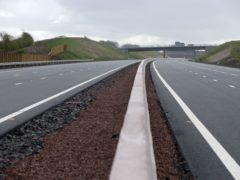 The incident happened on the M8 motorway (Jane Barlow/PA)