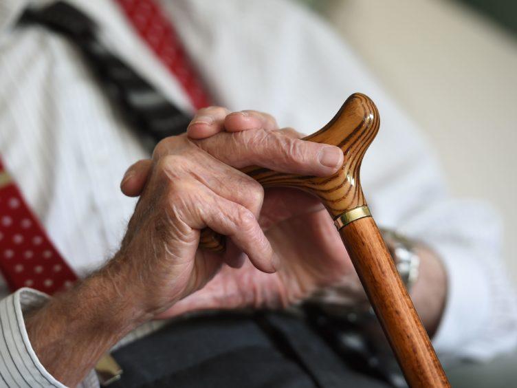 An elderly man (Joe Giddens/PA)