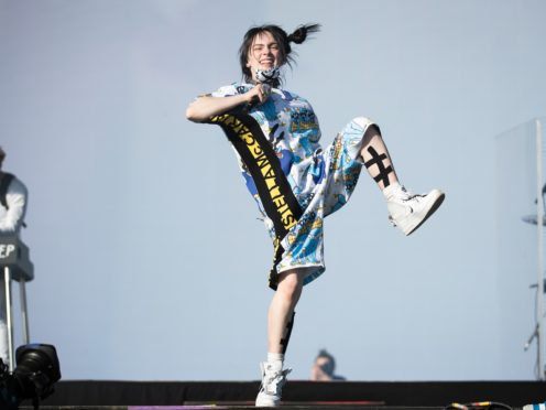 Billie Eilish has gone to the top of the charts with her second album, Happier Than Ever (Aaron Chown/PA)