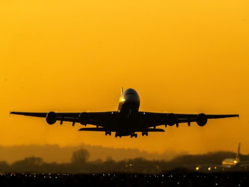 New figures shows air travel to the UK continues to be severely affected by the coronavirus pandemic (Steve Parsons/PA)