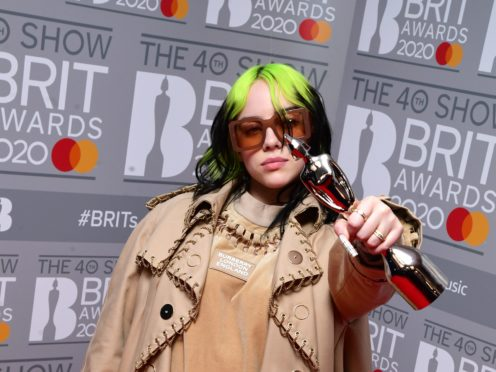 Billie Eilish poised to top album charts with Happier Than Ever (Ian West/PA)
