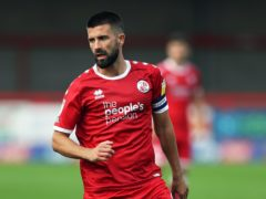Crawley Town's George Francomb returns from suspension for Tuesday's Carabao Cup clash with Gillingham. (Kieran Cleeves/PA)