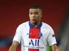 Paris Saint Germain's Kylian Mbappe has been linked with a move away (Martin Rickett/PA)