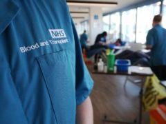 A donor carer's branded uniform (Jonathan Brady/PA)