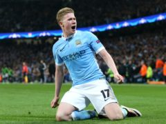 Kevin De Bruyne remains on the Manchester City injury list (Martin Rickett/PA)