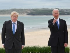 Prime Minister Boris Johnson (left) with US President Joe Biden seen here at the G7 summit in Cornwall, have talked about Afghanistan (PA)