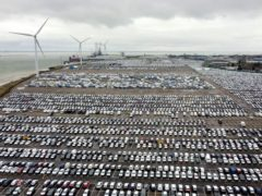 File photo dated 04/03/21 of new cars on the quayside in Sheerness, Kent. Demand for new cars grew 28% in June, new figures show. Issue date: Monday July 5, 2021.